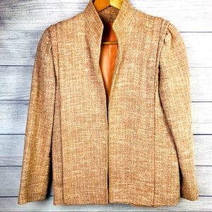 V Vintage Braefair Jacket Tweed Blazer Pink Cream